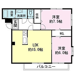 マンションOhana[1階]の間取り