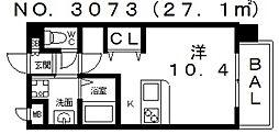 ヴィラルーチェ[6階]の間取り