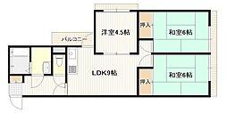 広島県広島市西区井口2丁目の賃貸マンションの間取り