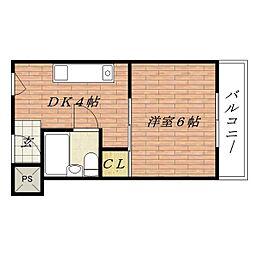 茨木メゾンNISHI[2階]の間取り