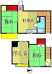 [テラスハウス] 千葉県松戸市松戸新田 の賃貸【千葉県 / 松戸市】の間取り