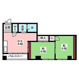 マンションブレーン[3階]の間取り