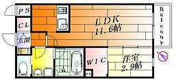 ルシア長野東[1階]の間取り