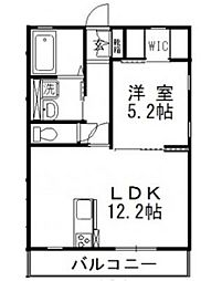 岡山電気軌道清輝橋線 東中央町駅 徒歩4分の賃貸アパート 1階1LDKの間取り