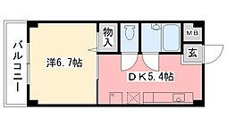 メゾンプチ甲子園I[1-205号室]の間取り
