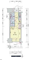 名古屋市営東山線 千種駅 徒歩5分の賃貸マンション 3階1Kの間取り