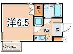 アークヴィレッジ湘南台[4階]の間取り