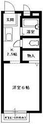 東京都江戸川区篠崎町6の賃貸アパートの間取り