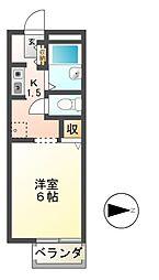 カマールM[1階]の間取り