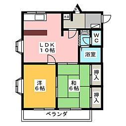 グリーンハート1[1階]の間取り