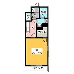 静岡県浜松市浜北区染地台2丁目の賃貸マンションの間取り