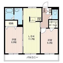 メイプルパレット狛江[1階]の間取り