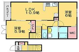 リールパラディーゾ[2階]の間取り
