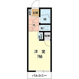 ソレイユ多摩[2階]の間取り