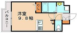 エンクレスト博多スタイル[9階]の間取り