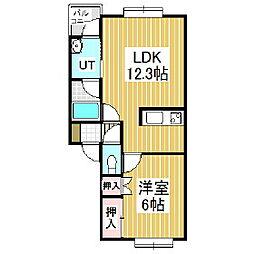 SHINWAハイツC[2階]の間取り