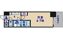 エスリード阿波座レジデンス[12階]の間取り