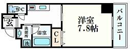 エクセル姫路 3階1Kの間取り
