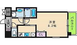 Front Field 天王寺 3階1Kの間取り