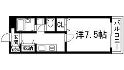 兵庫県宝塚市花屋敷つつじガ丘の賃貸マンションの間取り