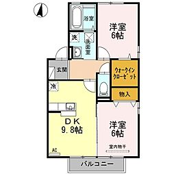 プロシードKII[2階]の間取り