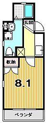 ドーリアNEXT花園[3-C号室]の間取り