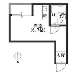 JPアパートメント港IV[3階]の間取り