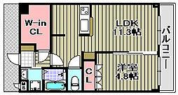 コンフォースマンテンレジデンス 3階1LDKの間取り