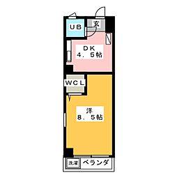 登り松マンション[7階]の間取り