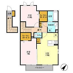 ヘルシーホーム the 2nd[2階]の間取り
