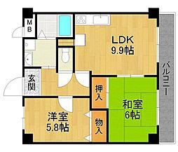 エスポワール伊丹桜ヶ丘2[4階]の間取り