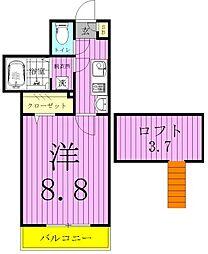 ダンリーベル三郷[302号室]の間取り