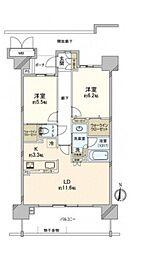 ポレスター野田屋町弐番館[2階]の間取り
