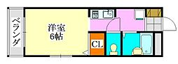 コンフォート津田沼[202号室]の間取り