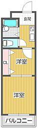 若江岩田駅徒歩6分 若江岩田CT・スクエア[215号室]の間取り