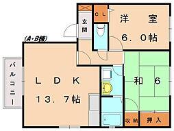 カーサ新宮 A[2階]の間取り