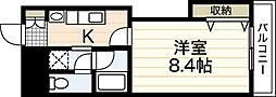木屋ビル[6階]の間取り