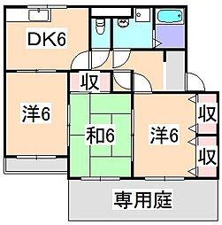 エスポワール80壱番館[1階]の間取り