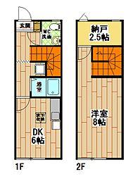 [テラスハウス] 福岡県北九州市小倉北区東篠崎1丁目 の賃貸【/】の間取り