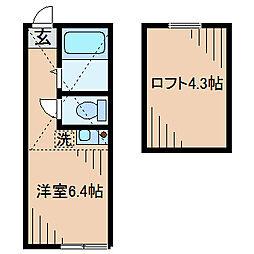 ピッコロカーサユナイト[2階]の間取り