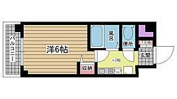 兵庫県神戸市兵庫区駅南通の賃貸マンションの間取り