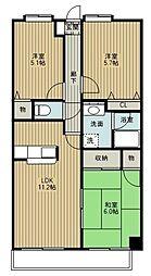 埼玉県さいたま市北区今羽町の賃貸マンションの間取り