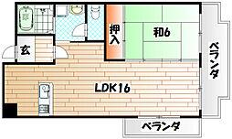 富士見台[2階]の間取り