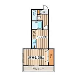 神奈川県海老名市東柏ケ谷4丁目の賃貸マンションの間取り