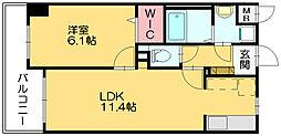 スカイシャトレ柚須[8階]の間取り