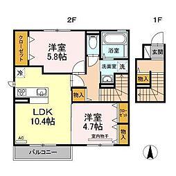 D−room南吉田(仮)[C203 号室号室]の間取り
