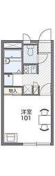 Osaka Metro千日前線 新深江駅 徒歩12分の賃貸アパート 2階1Kの間取り