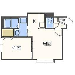 Kazu東札幌[3階]の間取り