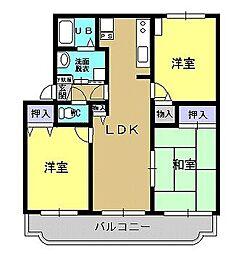 熊本県熊本市南区八王寺町の賃貸マンションの間取り