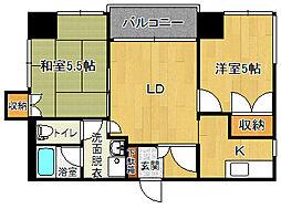 エクセル富士見[301号室]の間取り